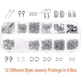 DIY Jewelry Making Supplies Kit Jewelry Repair Tools bag Kit with Pliers Silver Beads Jewelry Making Accessories DIY Craft