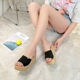 Slippers Women's Quarters Europe And The United States With The New Simple And Generous Solid Color One-word Wild Wear Sandals Women