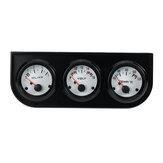 Voltmètre universel à lunette 2 `` / 52mm + thermomètre à eau + jauge électrique de pression d'huile
