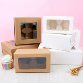 10Pcs Kraft Paper Cake Cup Muffin Box Bakery Cake Container Party Favors