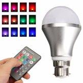 Cambiamento colore Dimmable RGB 4W B22 luce a led Baionetta a bulbo con IR remoto Controller