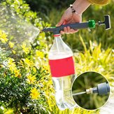 Portable High Pressure Air Pump Manual Sprayer Adjustable Drink Bottle Spray Head Nozzle Garden Watering Tool