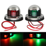 Yacht Light 12V in acciaio inox LED Bow Red Green Navigation Lights Marine Boat