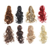 New 24inch Long Hair Extension Bun Wig PonyTail Matte High Temperature Silk Chemical Fiber Claw Clip