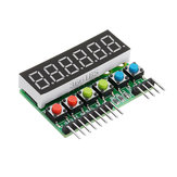 TM1637 6-Bits Tube LED Display Key Scan Module DC 3.3V To 5V Digital IIC Interface Six In One 0.36 Inches Geekcreit for Arduino - products that work with official Arduino boards