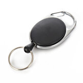 IPRee® Outdoor EDC Metal Keychain Ring Multifunction Retractable Anti-Lost Key Ring Buckle Pull Clip
