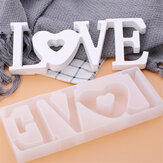 LOVE Sign Resin Mold de fundición Silicona Fabricación de joyas Epoxy M