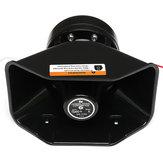 12V 400W大音量警報警報警察サイレンホーンPAスピーカーMICシステム