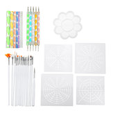 33Pcs/Set Acrylic Stick Mandala Painting Tool Stencil Carving Pottery Tool DIY Decorations