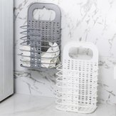 Household Folding Hamper Bathroom Clothes Clothing Plastic Storage Baskets Wall Hanging Laundry Basket Wholesale