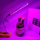 10W 21 LED Grow Light Indoor USB Pflanzenwachstumslampe Vollspektrum für Hydroponic