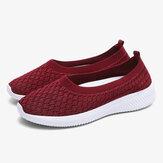 Kadınlar Rahat Rahat Örme Hafif Soft Sole Slip-on Sneakers