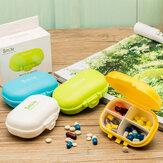 Honana HN-PB011 4 Compartments Pill Organizer Portable Travel Pill Case Daily Pill Box