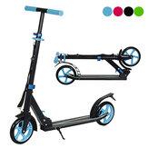 Scooter plegable para niños de 2 ruedas, patinete de pie de altura ajustable para paseo en carretera, patinete trasero de aleación de aluminio con freno