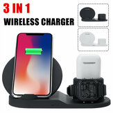Bakeey 3 in 1 Wireless شاحن Station شحن Dock Stand for Samsung Galaxy ملحوظة S20 ultra Huawei Mate40 OnePlus 8 Pro