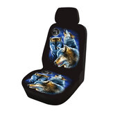5 Seat Universal Wolf Animal Print Frente / Full Car Seat Protectors Cover Covers