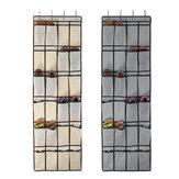 24 кармана Подвесная обувь Органайзер Хранение Сумка Вешалка Ключи на задней двери Полка для хранения мелких предметов Настенный шкаф с 4 к