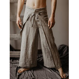 Mens Casual Loose Multi-functional Fisherman Pants Strap Trousers