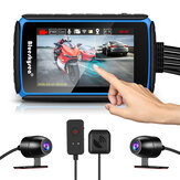 Blueskysea DV988 Dash Cam per moto GPS WiFi fotografica con touch screen Dual 1080P lente Registrazione bici DVR Impermeabile Cámara moto