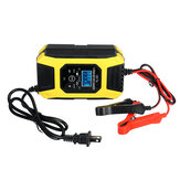 12V 7A LCD Pulse Repair Battery Charger For Car Motorcycle AGM Gel Wet Lead Acid