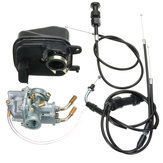 Carburetor Carby+Air Filter+Throttle+Choke Cable For YAMAHA PEEWEE YZinger PW50