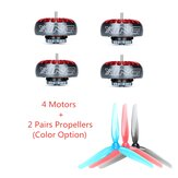 4X iFlight XING 2005 1900/2550KV 4-6S Brushless Motor + 2 Pairs Nazgul 5030 Propeller Combo for RC Drone FPV Racing