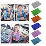 90x30CM Unisex Sports Gym Cooling Towel Portable Summer Heat Diffuse Headband Camping Travel