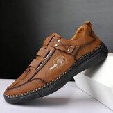 Ανδρικά δερμάτινα παπούτσια με αντιολισθητική αντιολισθητική αντιολισθητική μπάντα