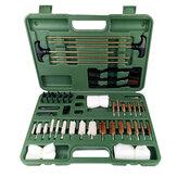 Universal Cleaning Kit Berburu Ditembak Senapan Airgun Cleaning Kit Set dengan Kasus Ukuran Perjalanan Sikat Logam Portabel