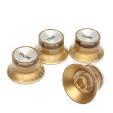 2 Volume& 2 Tone Gold Guitar Knob for LP/SG Style Electric Guitar