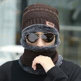 الرجال الصوف Plus الشتاء المخمل السميك الدفء حماية الرقبة يندبروف محبوك قبعة