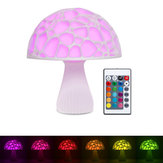 20cm 3D Mushroom Night Light Remote Touch Control 16 Colors USB Rechargeable Table Lamp for Home Decoration