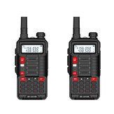2 szt. BAOFENG EU Plug BF-UV10R Plus 10W 5800mAh UV dwuzakresowy dwukierunkowy ręczny radio czarny Walkie Talkie 128 kanałów LED latarka USB ładowalna zewnętrzna piesze wycieczki domofon
