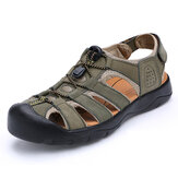 Homens Comfy Anti Collision Toe Gancho Loop Sandals