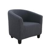 Estiramiento europeo Funda de sofá individual con todo incluido Café Tienda Habitación de hotel Sofá de color sólido Funda para silla