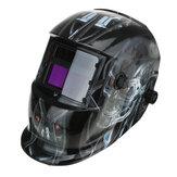 Solar Power Schweißhelm Auto Darkening Mask WIG MIG Schleifen verstellbarer Knopf