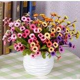 7 màu Hoa hướng dương nhân tạo Hoa lụa Daisy Mô phỏng Hoa Bó hoa Trang trí nhà