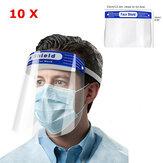 10 PCS Anti-buée Transparent En Plastique Plein Visage Bouclier De Protection Masque Visage Anti-Spitting Splash Couverture Faciale Avec Coussin De Front