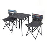 GOCAMP Portable Folding Table Chair Set Outdoor Camping Picnic BBQ Stool Max Load 120kg from
