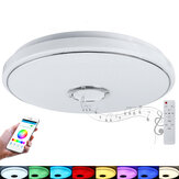 40cm 48W Wifi RGB LED Bluetooth Play Music Luz de teto inteligente APP regulável Voice inteligente remoto Funciona com Alexa Google Home