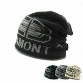 Chaquetas de las lanas espesadas hechas punto de los hombres casquillo de la tapa de la cubierta caliente del sombrero de la capa doble de la letra jamont