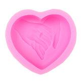 Coração casamento Silicone Sabão bar molde molde de vela diy molde de resina de gesso artesanato