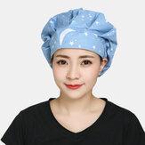 Bonés cirúrgicos Esfoliante Cap Cotton Fabric Nurse Chapéu