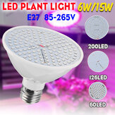 E27 6W/15W LED Grow Light Spectrum Growing Lamp Indoor Bulb For Hydroponic Plant