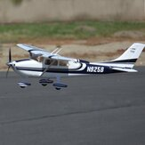 FMS SKY TRAINER 182 Blue 1400mm Wingspan EPO RC Airplane Trainer RTF with Flaps LED Lights