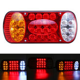 12V 32 LED Rear Stop Light Tail Brake Indicator Lamp Truck Trailer Van Caravan