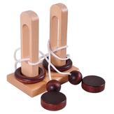 Giocattoli educativi in legno classici Sblocca il ciclo di sblocco Kongming serratura per bambini