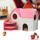 Hamster Wooden House Pet Small Nook Double Layer Toy Supplies