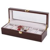 6 miejsc Flanelowy materiał z poduszkami Pudełka na zegarki Pudełko na biżuterię