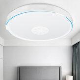 Forme ronde RGB bluetooth WIFI LED plafonnier musique haut-parleur lampe à intensité variable fonctionne avec Amazon Alexa Google
